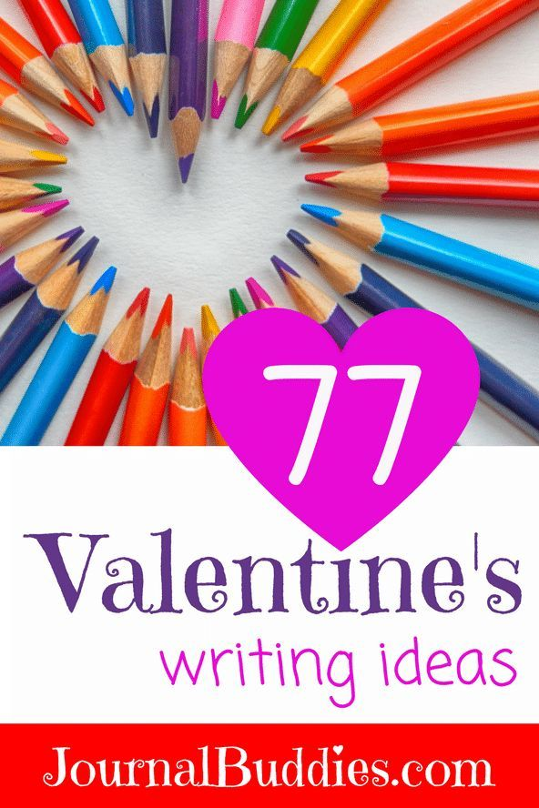 Valentine\'s Writing Ideas for Kids! | Journal topics, Prompts and ...