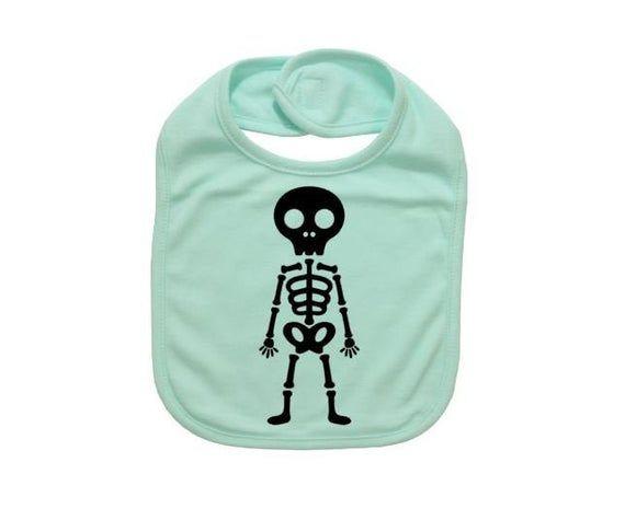 Halloween Baby Bib, Skeleton, Skeleton Bib, Baby Shower, Gift For Baby, Baby Bibs, Newborn Bib, Infa #bibsforbaby