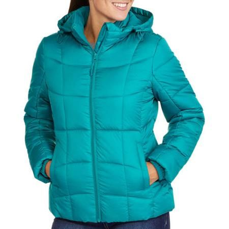 Faded Glory Women's Hooded Puffer Coat