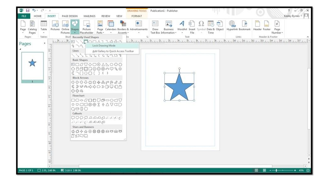 How To Add Shapes In Microsoft Publisher 2013 Teachucomp Inc Microsoft Publisher Microsoft Publishing