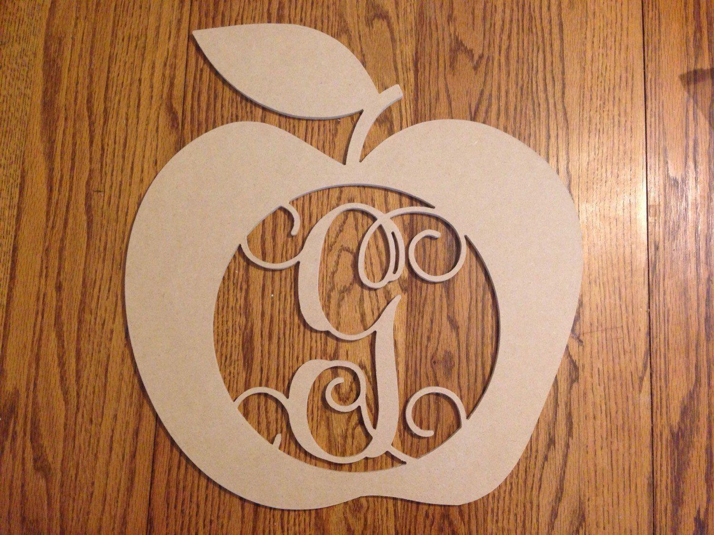 Housewarming Gift Single Initial Apple Wood Monogram in 18 inches Wooden Monogram|Teacher Gift|Teacher Monogram|Graduation Gift