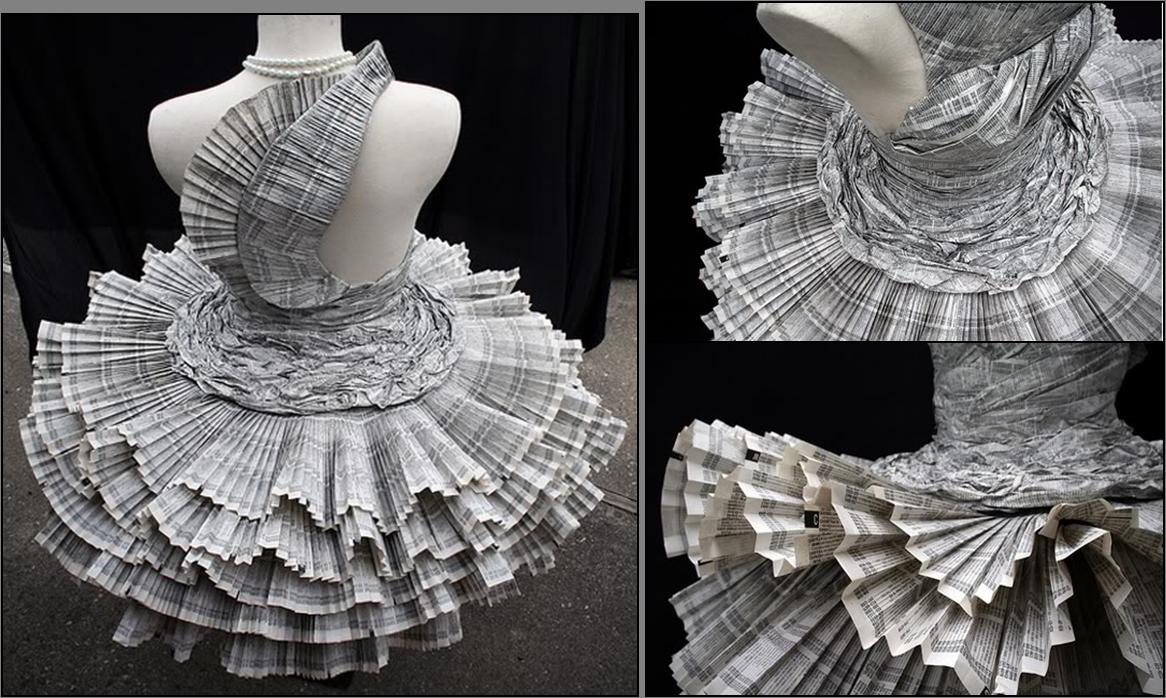 Los Vestidos De Papel Reciclado Son Para El Verano Vestido