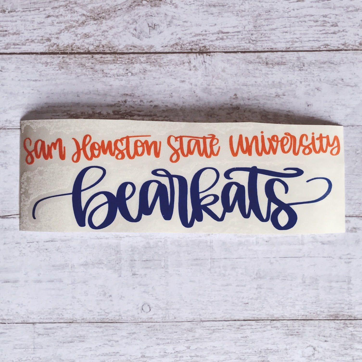 Sam houston sticker sam houston decal sam houston state bearkats sam houston kats sam houston state