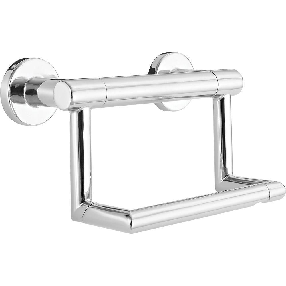 Delta Decor Assist Contemporary Toilet Paper Holder With Assist Bar In Chrome 41550 Toilet Paper Holder Delta Faucets Wall Mounted Toilet