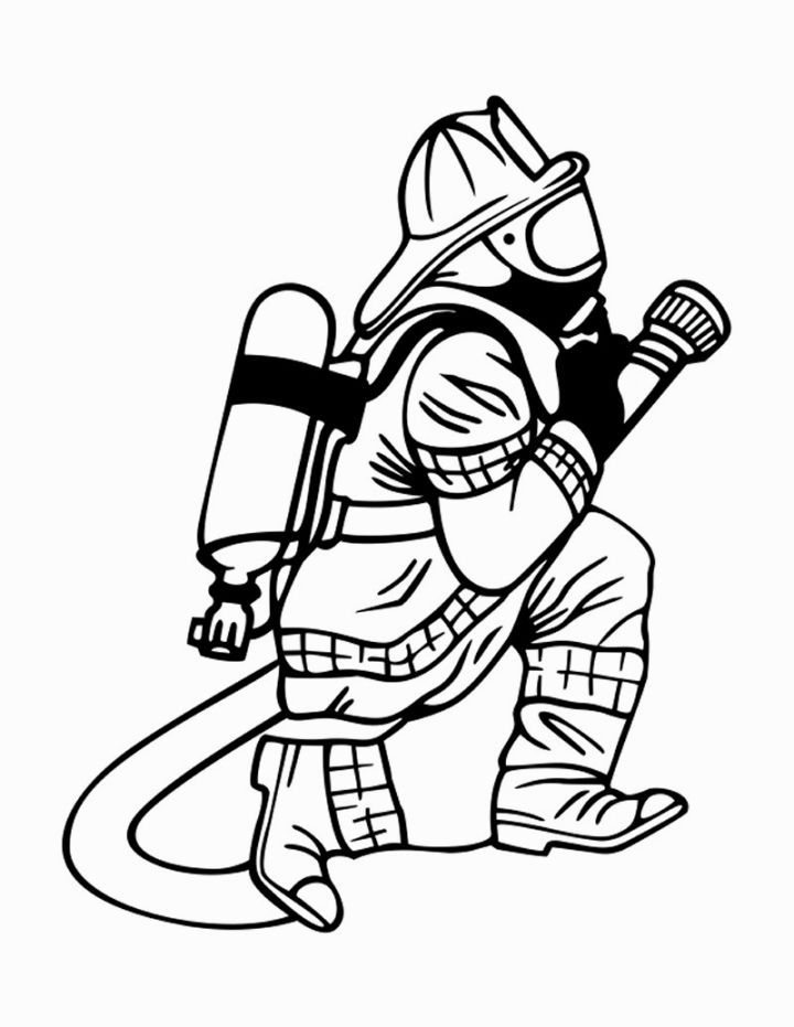 fireman coloring pages Fireman Coloring Pages | Coloring Pages | Firefighter, Cricut  fireman coloring pages