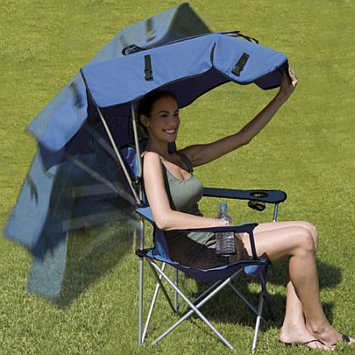 Folding Beach Chair with Canopy  SPORT IT UP  Folding