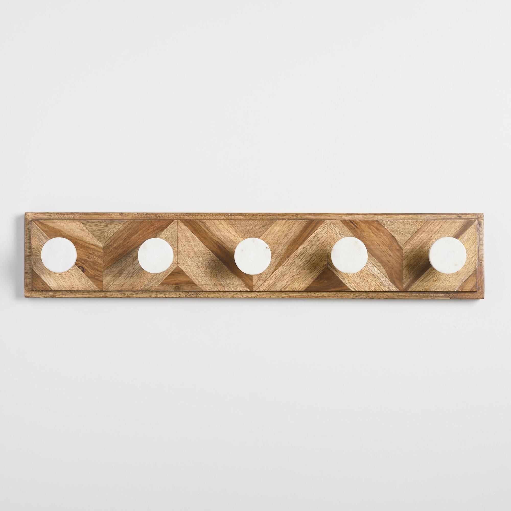 3 marble Hook Coat Rack | Coat Rack | The Wall Collective |Marble Wall Hooks