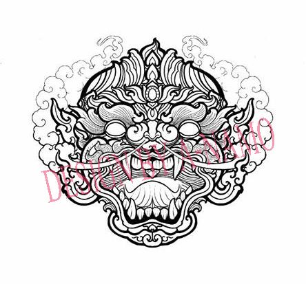 hanuman thaistyle balinese barong pinterest tattoo thai tattoo and tatting. Black Bedroom Furniture Sets. Home Design Ideas
