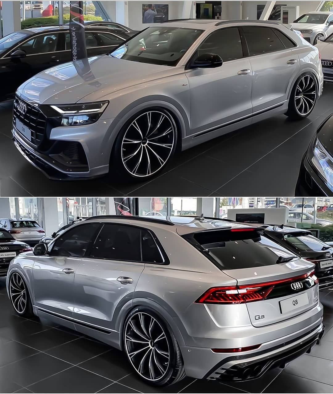 6 987 Vpodoban 29 Komentariv Audi Q8 Q8 Nation V Instagram The Silver Abt Tank In The Showroom Audi Rs Luxury Cars Bmw