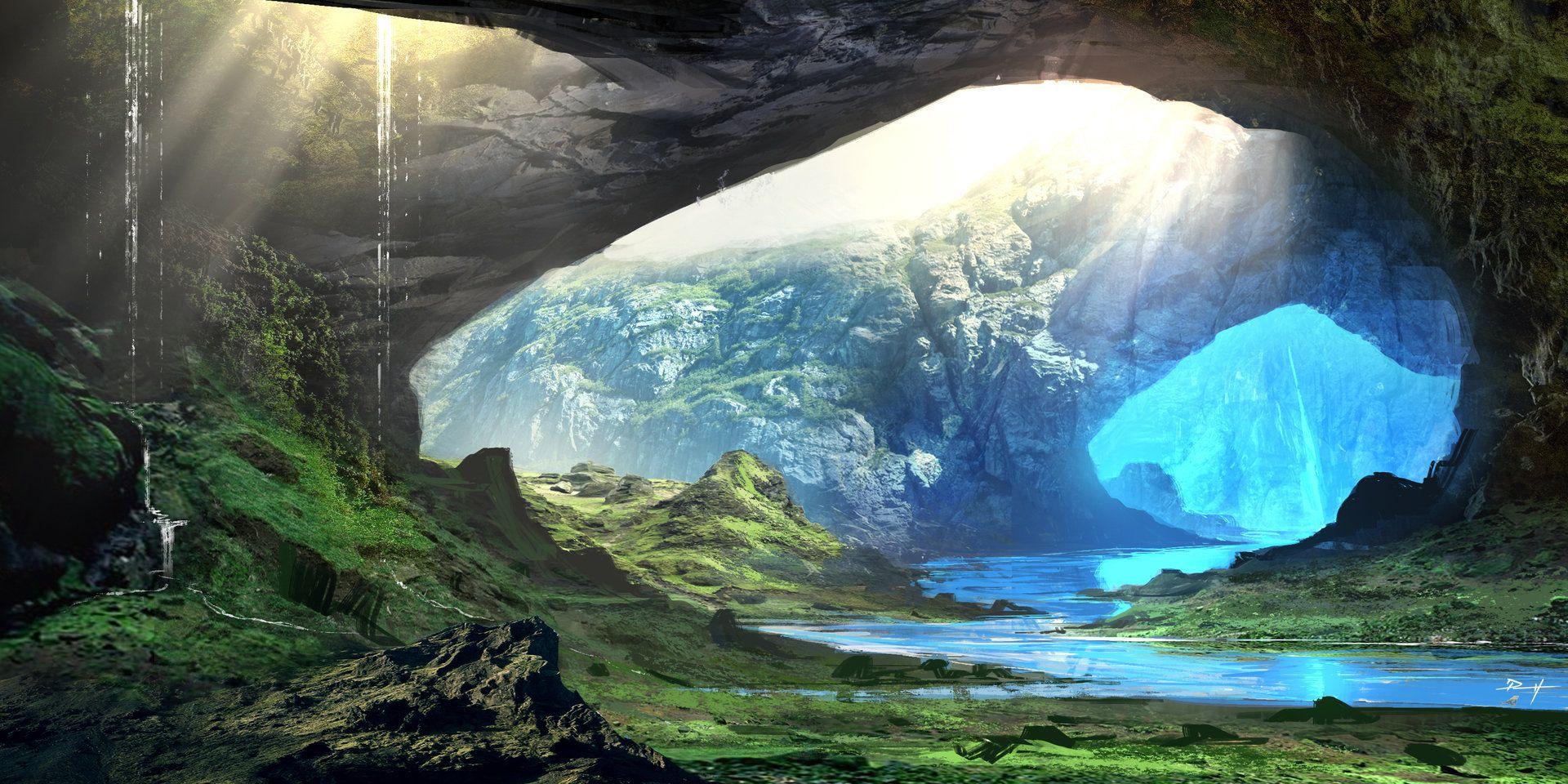 ArtStation - 'Crystal Caverns', Daniel Pellow