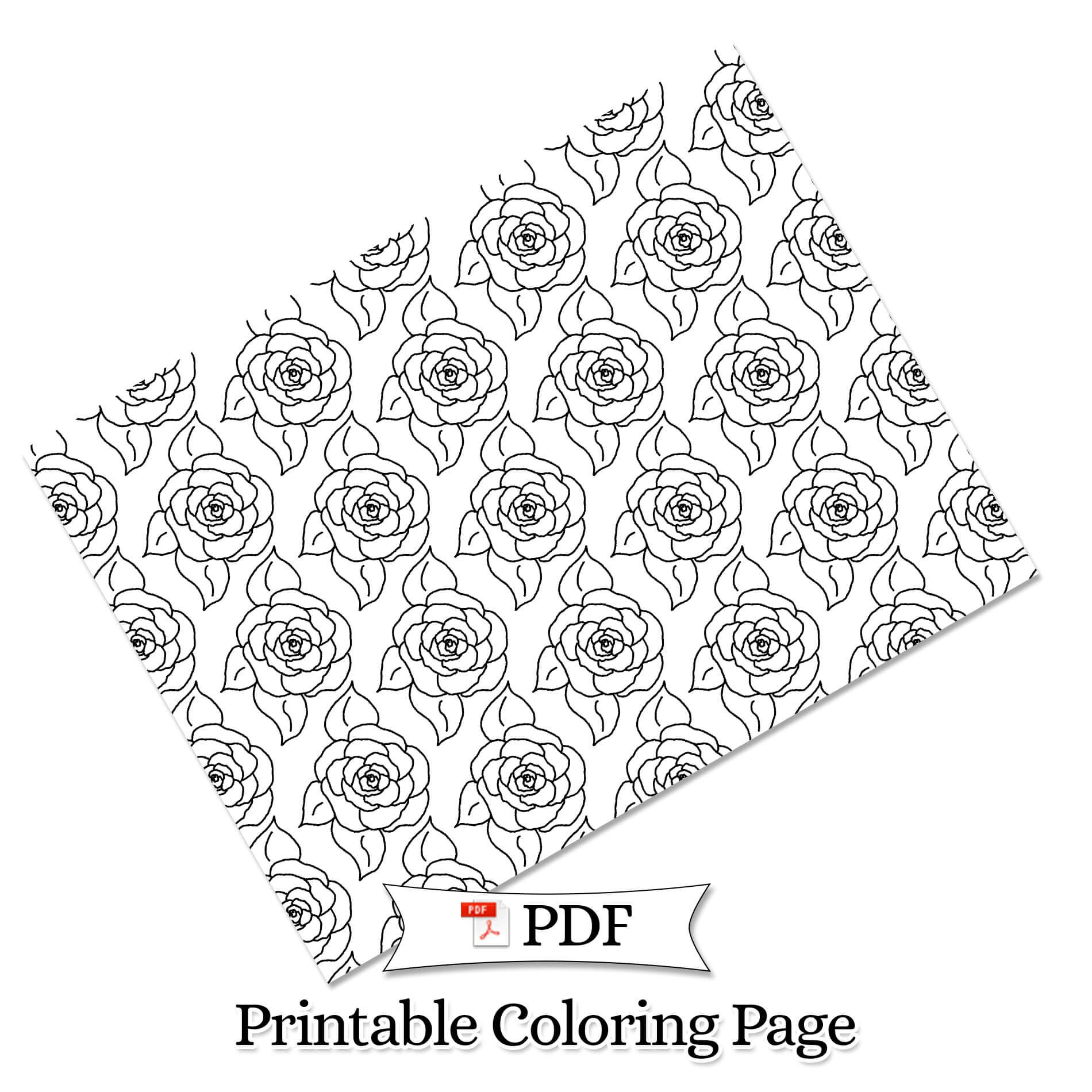 Petal Madness Printable Coloring Page #25 - Terry McClary   | Adult Coloring Page   | Coloring Printable | coloring pages