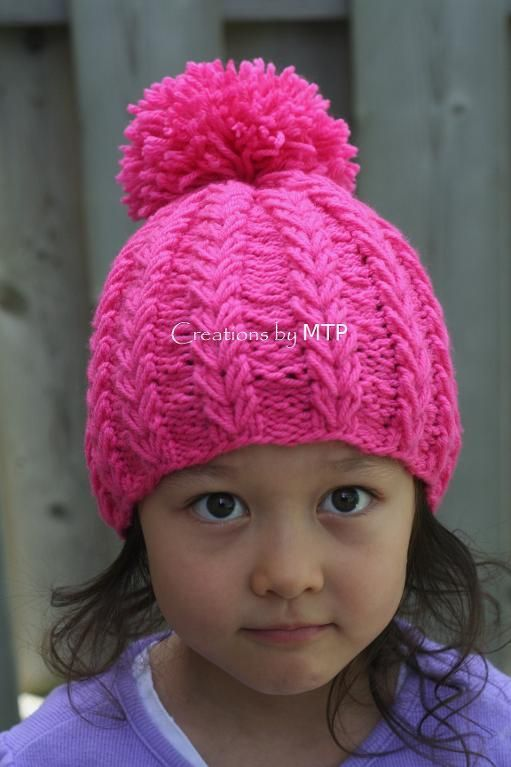 Heart String Hat with Pom-Pom   Pinterest
