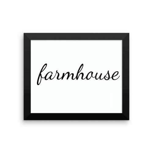 """A Matte Black Kitchen Makes A Bold Statement In This: Make A Statement In Any Room With This Framed """"#farmhouse"""