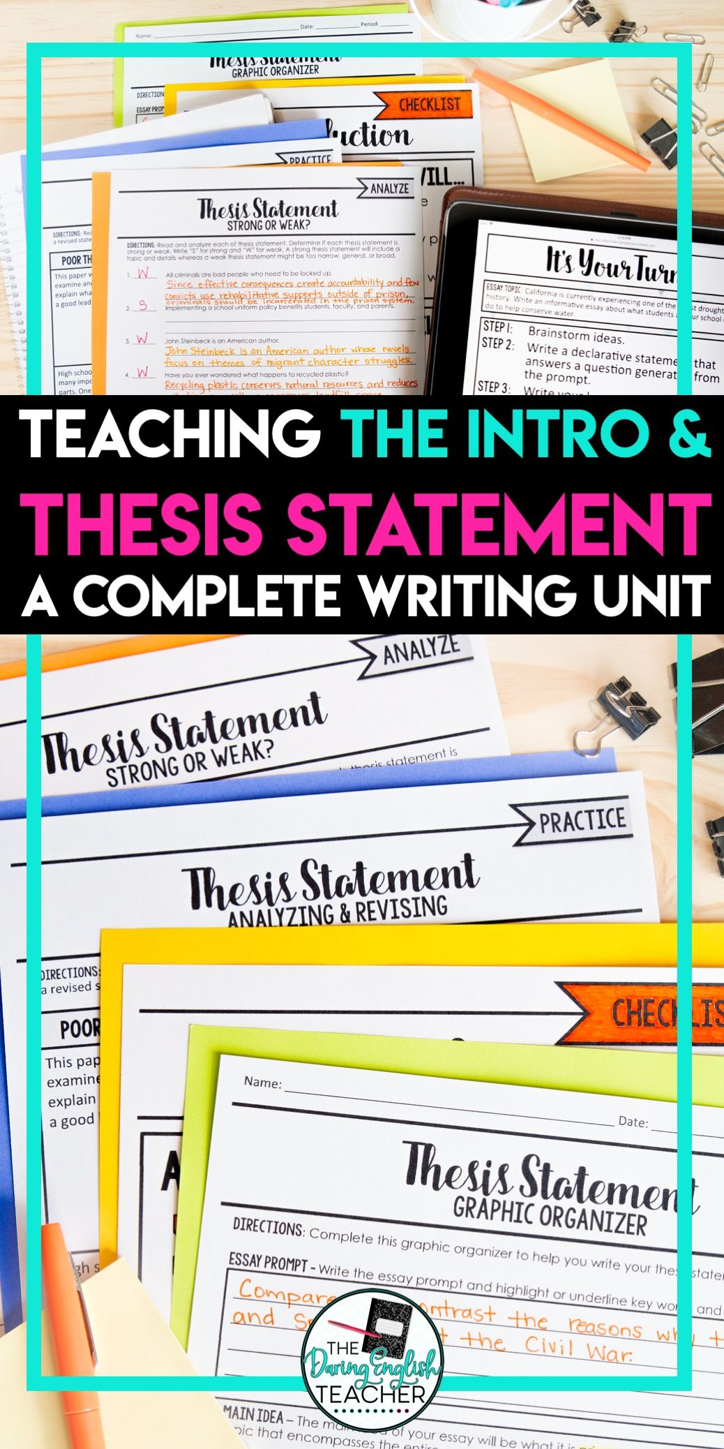 Thesis Statement And Introduction Essay Writing