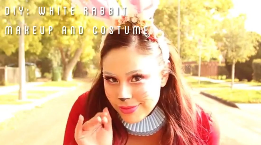 Cute White Rabbit Makeup and Costume combo! #DIY | Halloween ...