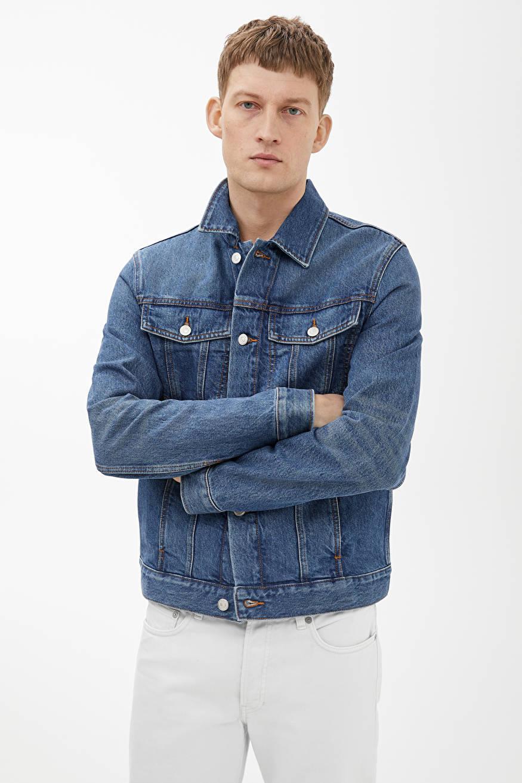 Trucker Denim Jacket Blue Jackets Coats Arket Denim Jacket Denim Jacket Men Jackets [ 1313 x 875 Pixel ]