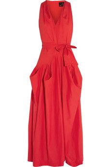 Vivienne Westwood Anglomania Gladiator draped cotton maxi dress | THE OUTNET