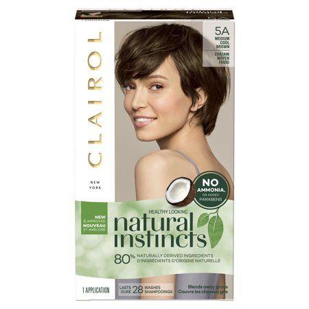 Clairol Natural Instincts Demi Permanent Hair Color Crème 5a Medium Cool Brown, 1 Application   Walmart.com Gallery