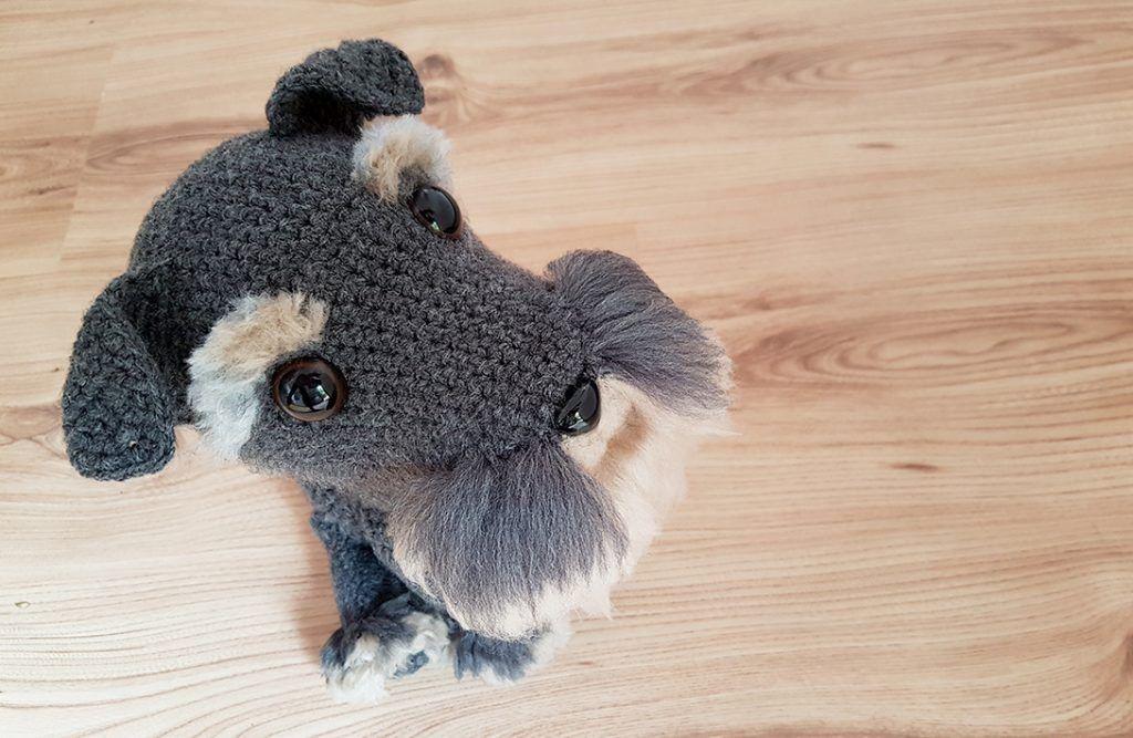 Free Amigurumi Dog Patterns : Project #027: amigurumi dog with diy fur schnauzer dogs free