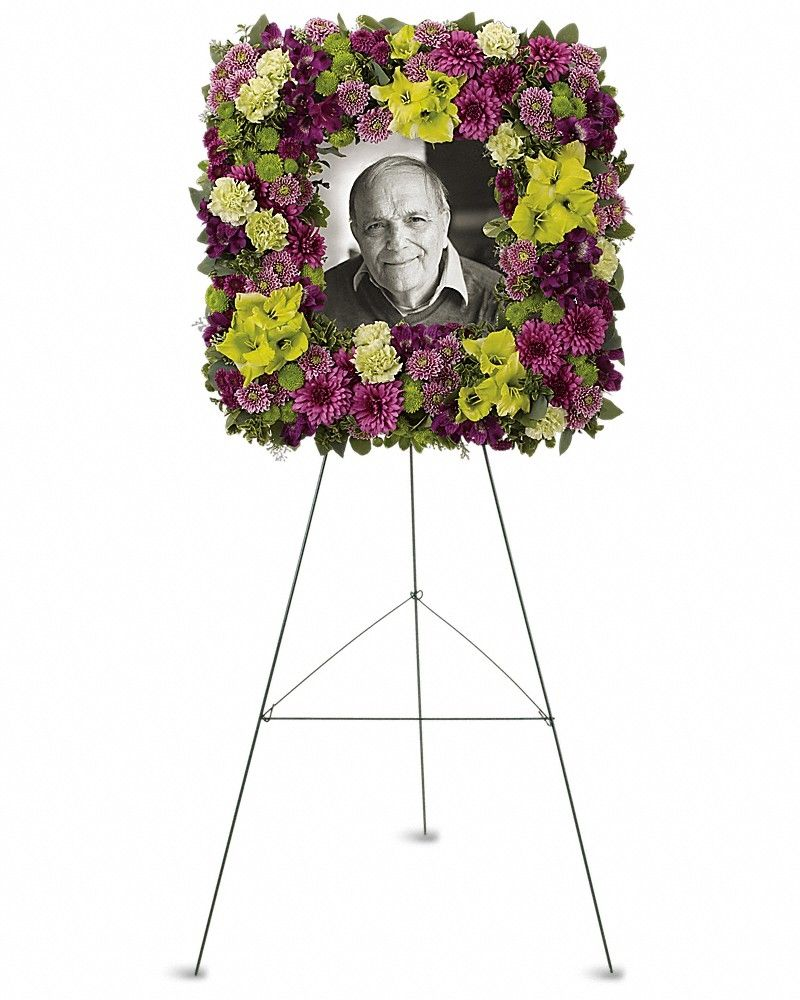 Mosaic of memories square easel wreath mosaics wreaths and squares mosaic of memories square easel wreath calgary flowers delivery izmirmasajfo Choice Image