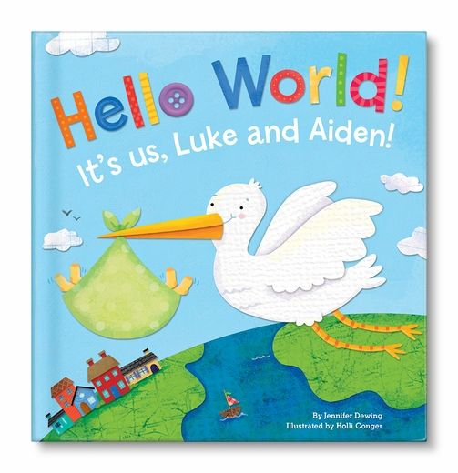 The perfect baby gift for twins - a personalized book just for them from @I See Me! Personalized Children's Books! #babygift #multiples #twins #giftidea