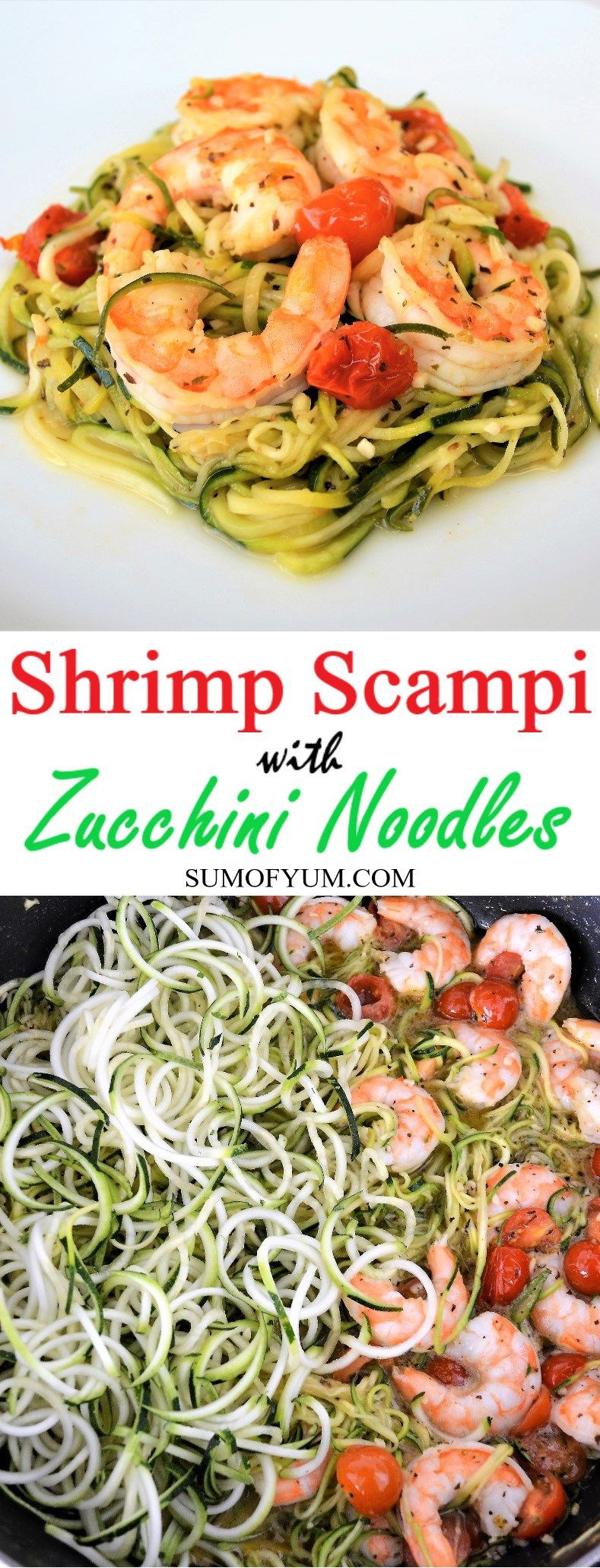 Easy Shrimp Scampi with Zucchini Noodles - Sum of Yum