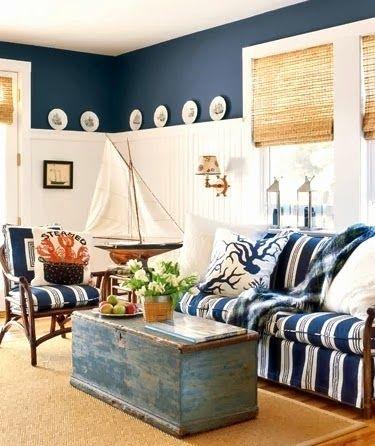 Coastal Nautical Coffee Table Decor Ideas Beach House Interior Design Nautical Living Room Coastal Living Rooms