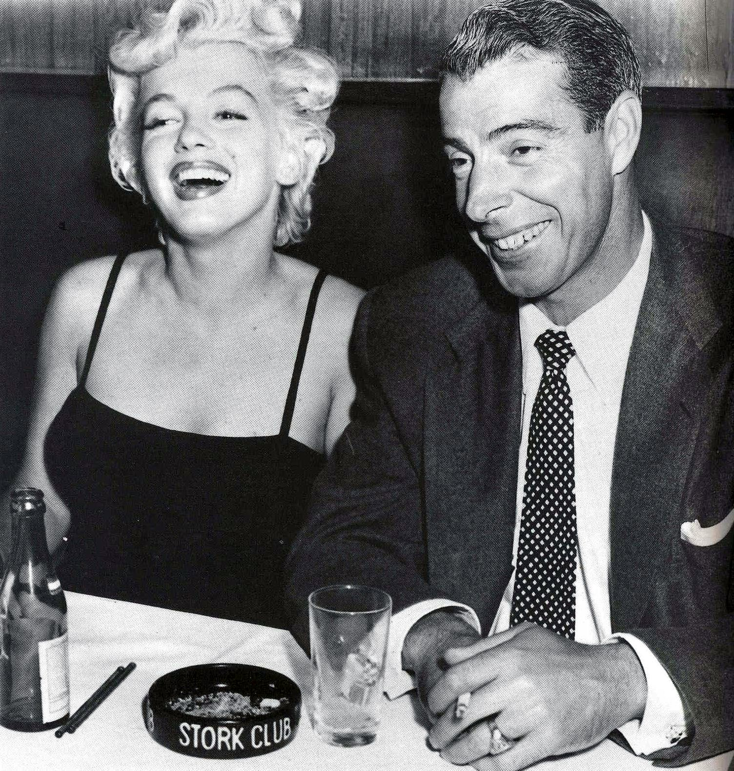 Marilyn Monroe and Joe DiMaggio at the Stork Club, 1952.