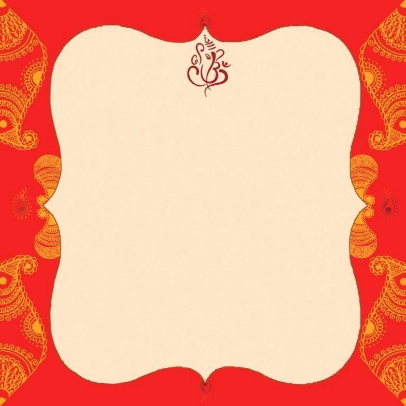 Hindu Wedding Invitation Template Awesome Blank Indian Wedding Invitation Templa 2020