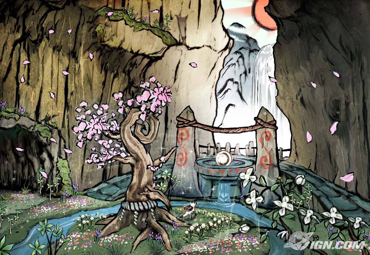Okami Table O With Images Art Okami Japanese Art Styles