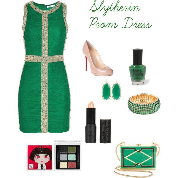 Slytherin Prom Dress   Slytherin and Harry potter