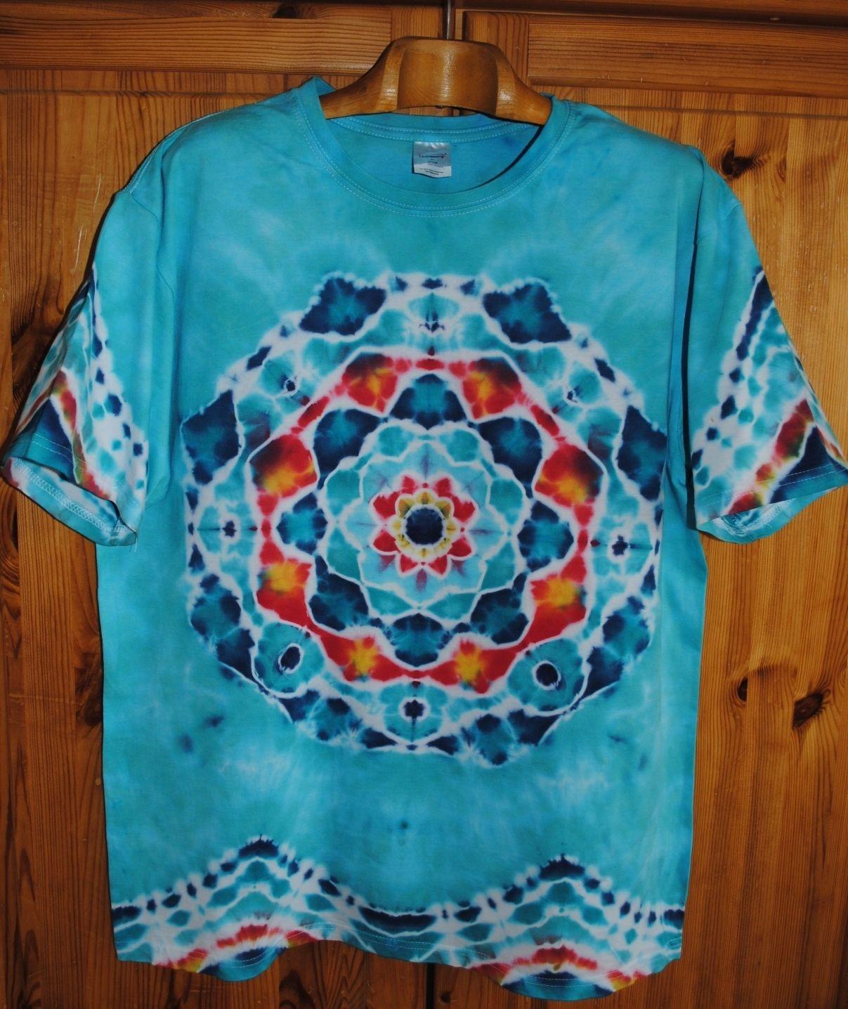 f7baebc4345e Batikované+tričko+-+Tyrkysový+sen+Toto+tričko+je+již+prodané