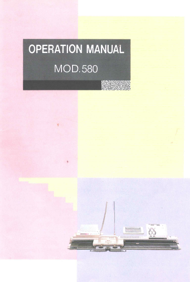 Link To Knitmaster Mod  Operation Manual  Machine Knitting