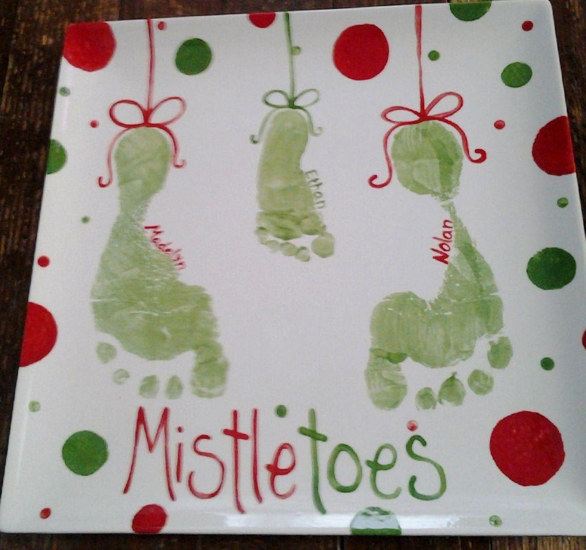 MistleToes footprint plate #mistletoesfootprintcraft