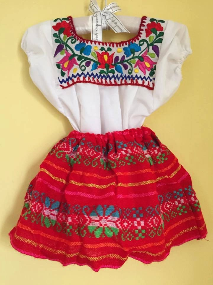 Mexican Baby Set Blouse Skirt Sarape Mexican Party Day Of The Dead