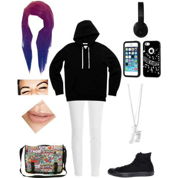 Untitled #522 by cutiepie92343 on Polyvore featuring polyvore fashion style Paige Denim Converse Music Notes Beats by Dr. Dre