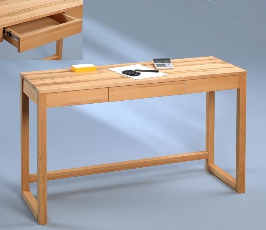 Stylischer, puristischer Schreibtisch in Kernbuche massiv geölt. Das ...
