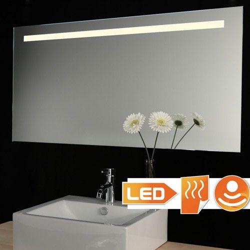 Badkamer spiegel met dimbare verlichting en spiegel verwarming 100×60 cm
