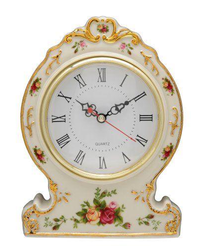 Royal Albert Old Country Roses Victorian Counter Clock ROYAL DOULTON