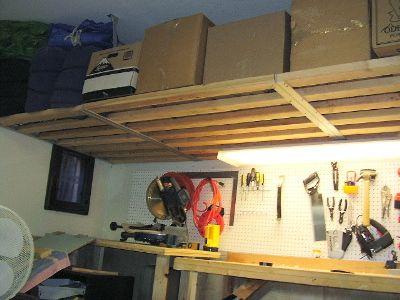 Woodwork Garage Overhead Storage Shelf Plans Pdf