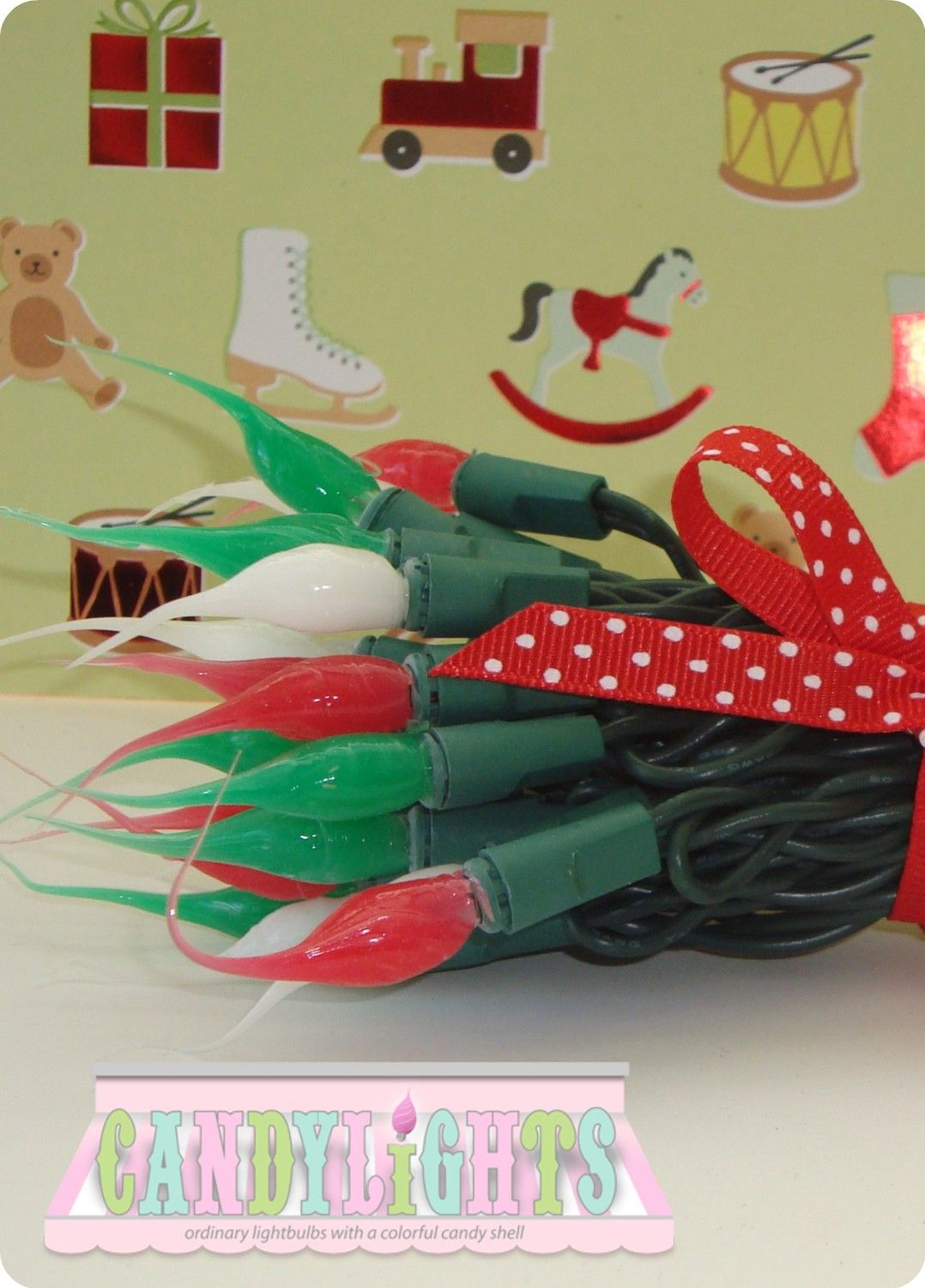 Candylights - Christmas Light Strand Green Wire. $16.00