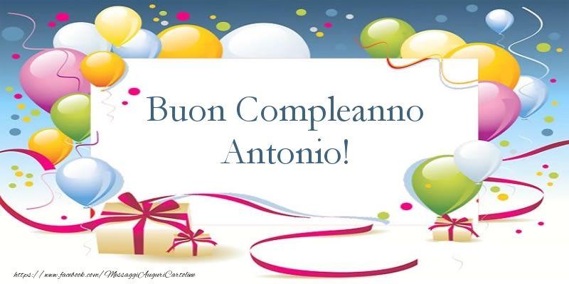 Buon Compleanno Antonio | compleanno | Place card holders, Happy