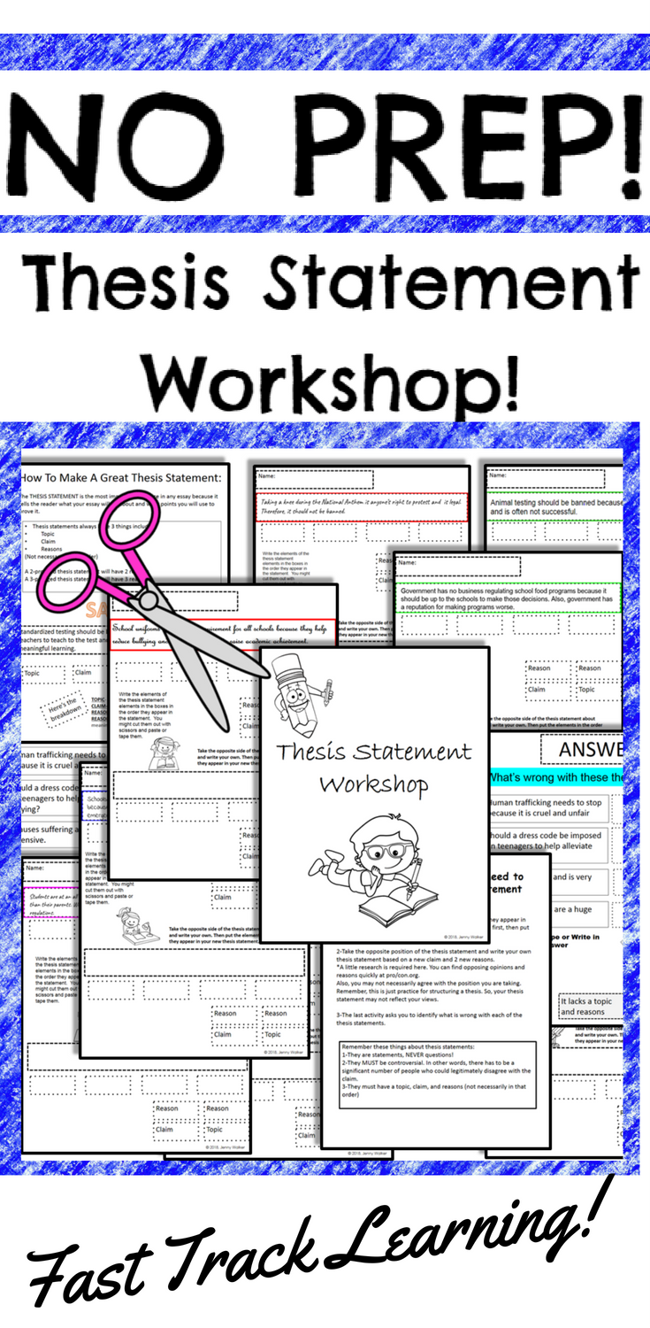 take the fast track to teaching thesis statement for argumentative essay writing in this fun engaging and differentiated hands on activity  [ 735 x 1500 Pixel ]