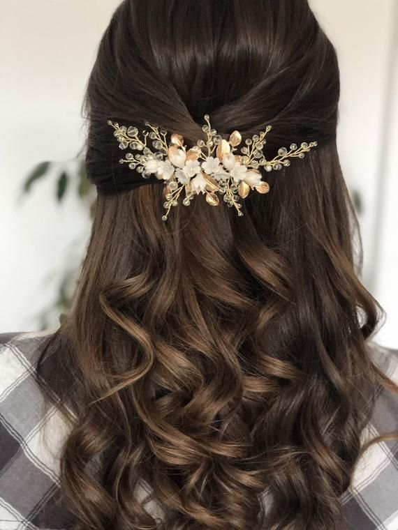 WEDDING HAIR ACCESSORY, Bridal Headpiece With Flow