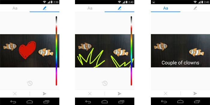 Facebook Messenger for Android allows you to doodle on