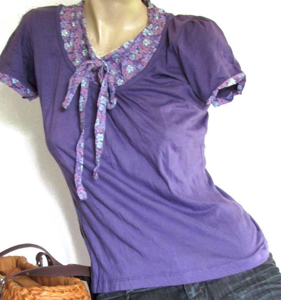 ZERO SHIRT Gr S 36 38 Lavendel Lila Flower Damen Oberteil Top geblümt Pulli  Lavendellila, 904b920ec7