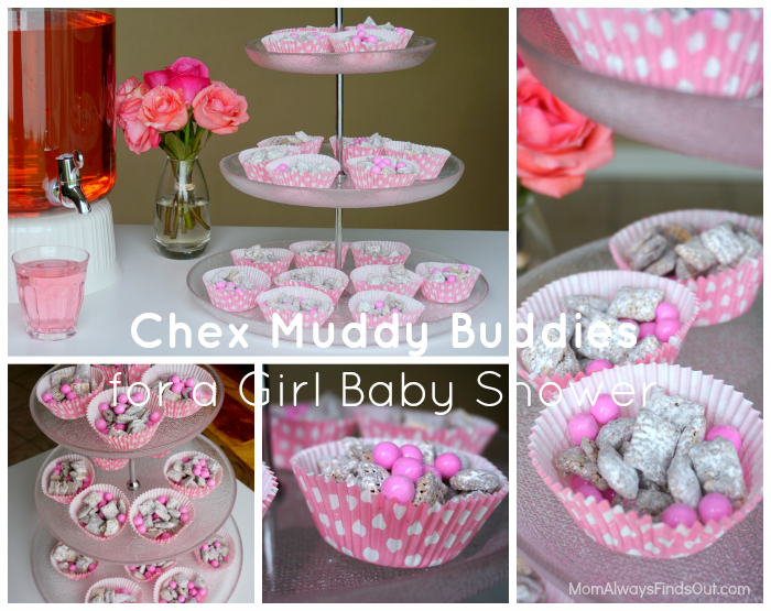 Chex muddy buddies recipe for a baby shower pink blue party time pinterest fiesta - Aperitivos para baby shower ...