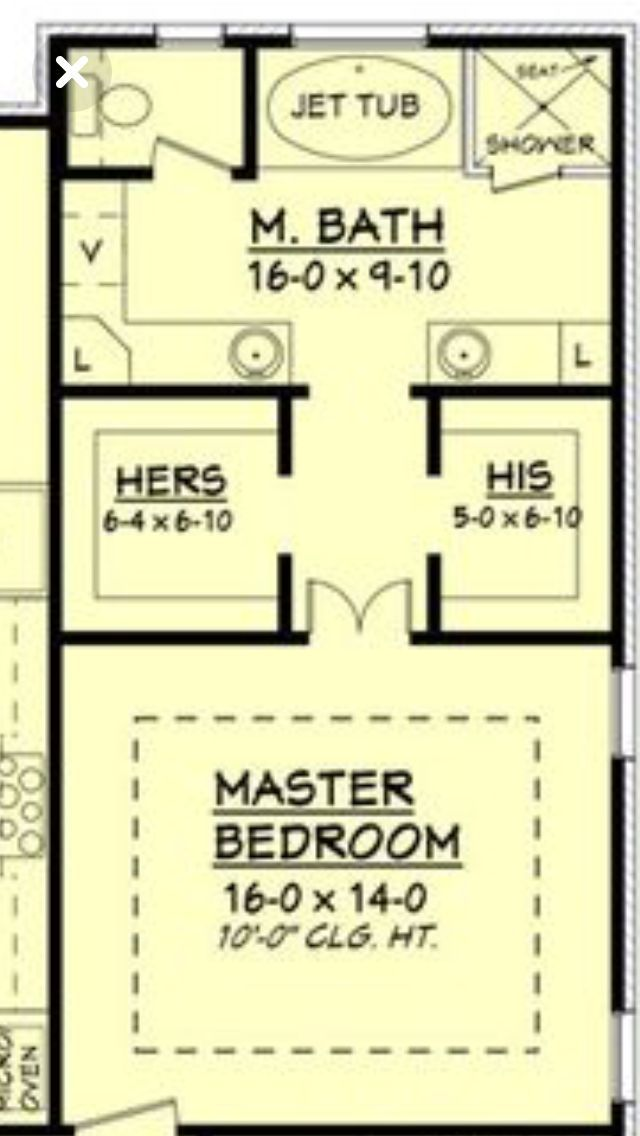 Ooh Nice Layout For Upstairs Loft Only I Would Put A Small Bathroom Opposite Of Where It Master Bedroom Layout Master Bedroom Plans Master Bedroom Addition