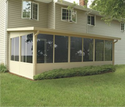 Straight Solid Roof Upgradeable Screen Room And Sunroom Outdoor Screen Room Patio Room Patio Enclosures