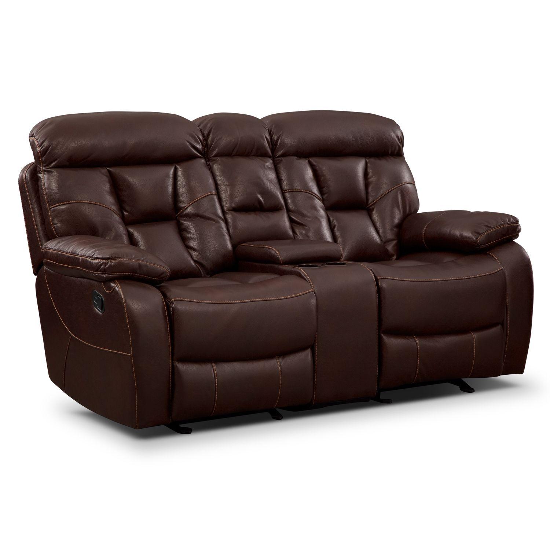 Phenomenal Living Room Furniture Dakota Gliding Reclining Loveseat Uwap Interior Chair Design Uwaporg